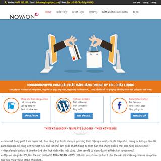 template blogspot dịch vụ bán hàng