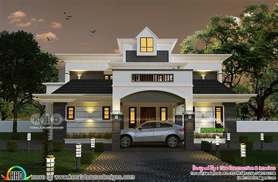 2906 sq-ft modern home plan with 4 bedrooms