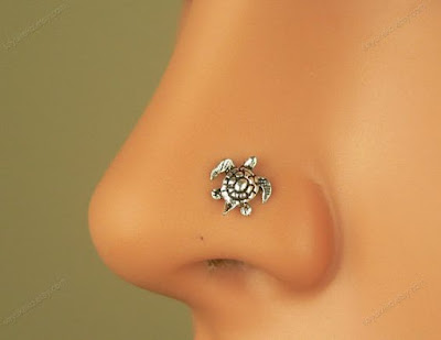 Tiny Turtle Nose Piercing