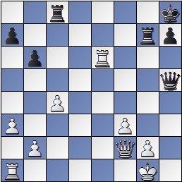 Torneo de Maestros del Comtal 1934, posición de la partida de ajedrez Bertrana – Ribera después de 34… Txg7