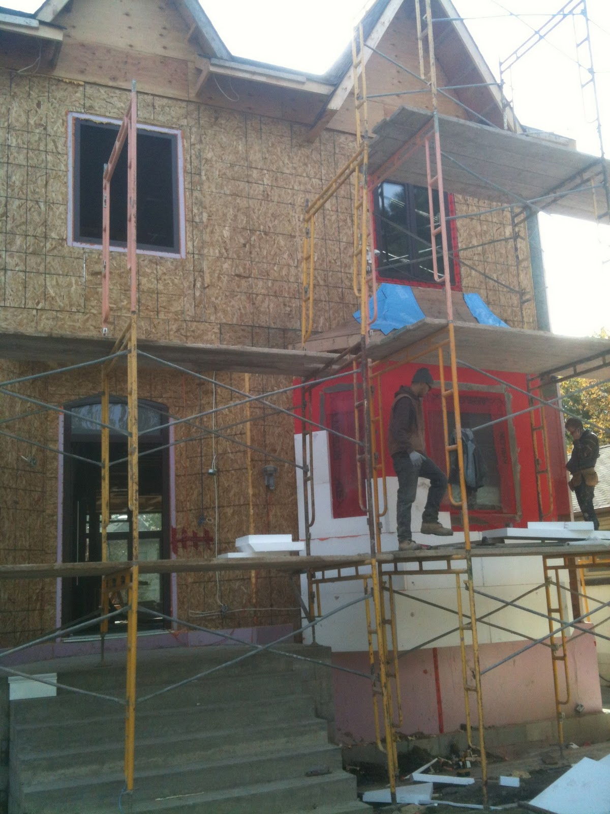 The Reno Coach Passive House Project in Toronto: A bussy day