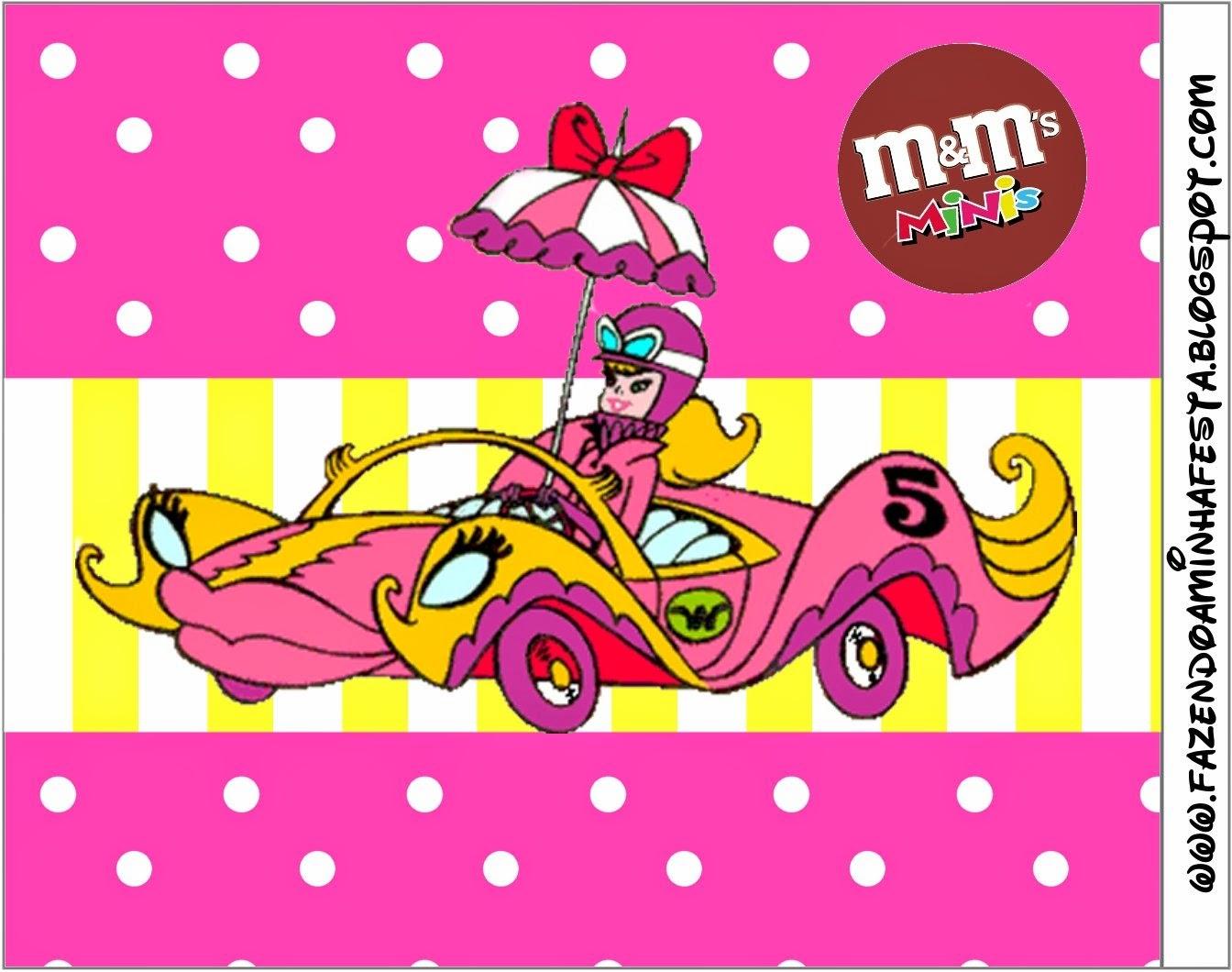 Etiqueta M&M de Penelope Glamour Retro para imprimir gratis.