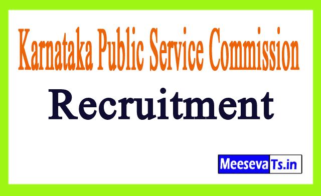 Karnataka Public Service Commission KPSC Recruitment
