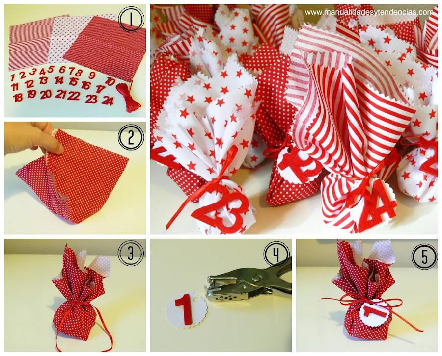 Cómo hacer un calendario de adviento de tela sin coser