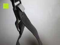 Verbindung: GHB 50kg Digitale Gepäckwaage LCD Anzeige tragbare Handwaage Kofferwaage für Reise und Haushalt Silber