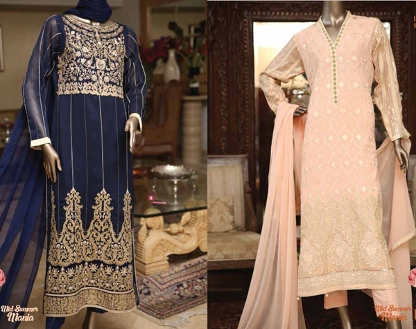 Premium Embroidered Chiffon Collection 2015 By J.