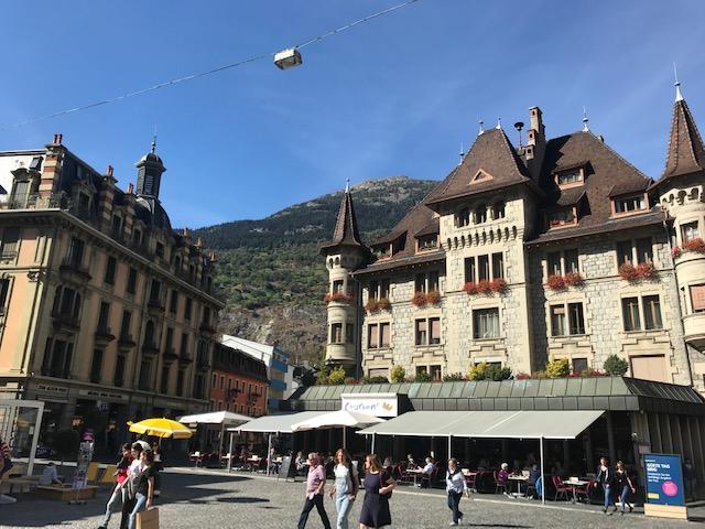 スイスのブリークの町