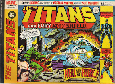 Marvel UK, The Titans #7, Nick Fury and SHIELD