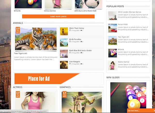 Panjab Press Blogger Template Free Download