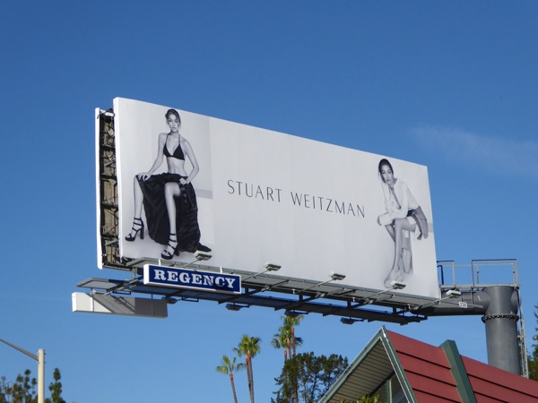 Gigi Hadid Stuart Weitzman Spring 2016 shoes billboard