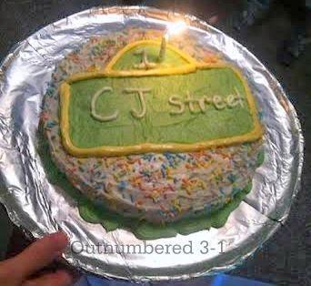 1st Birthday, 1st Birthday cake, Elmo, Sesame Street, Royal Bash, Fisher-Price