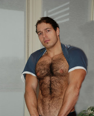 Rugged beefy man Peter Jonson