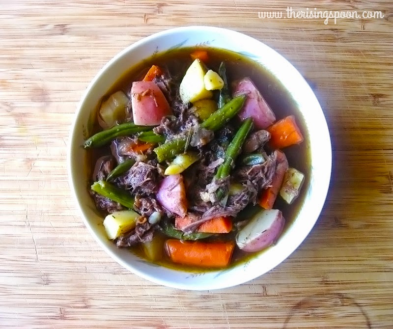 Make your leftover pot roast do double duty by transforming it into a beef stew using homemade beef stock, fresh veggies and spices. This melt-in-your-mouth and flavorful stew is a great excuse for making extra pot roast.