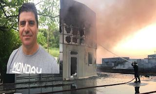 Θρήνος για το θάνατο του πυροσβέστη στη Θεσσαλονίκη: Η στιγμή που πιάνει φωτιά το εργοστάσιο - ΒΙΝΤΕΟ