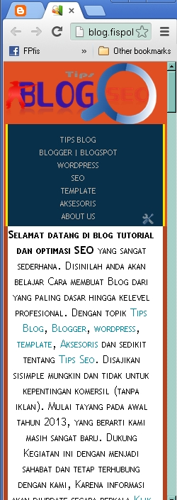 modifikasi tampilan blog Responsive