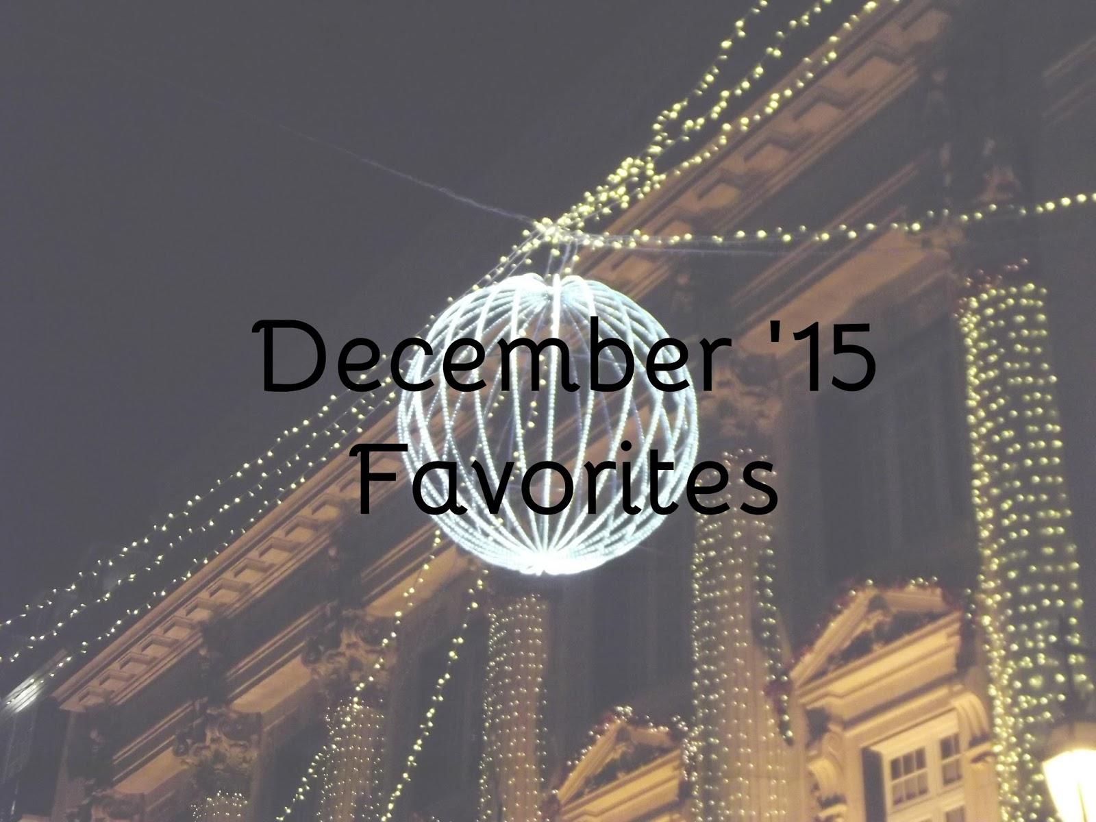 Favoritos de Dezembro 2015