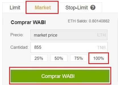 Tutorial Paso a Paso Comprar Moneda WABI