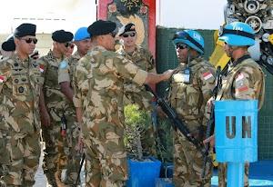 Satgas Indobatt Lebanon Terima Kunjungan Kerja Komandan PMPP TNI