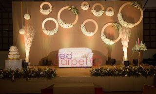 Jute wedding stage