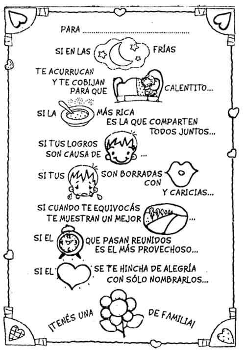 Maestra Asunción: MENSAJES Y CUCHITURAS PARA LAS FAMILIAS.