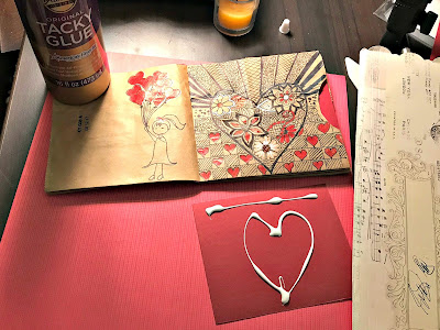 January 18, 2018  Preparing a valentines day craft to do with our granddaughters this weekend
