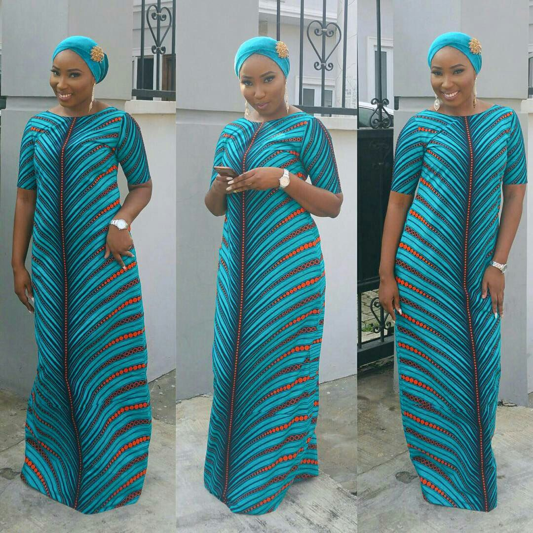 Lovely Ankara Stylish Long Gown For Beautiful Ladies Dezango