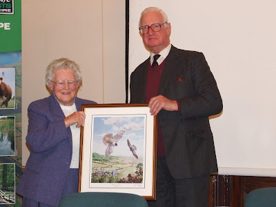 Ruth being presented with the Eric Thurston award
