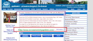 Anna University exam postponed 12-11-2015 exams postponed