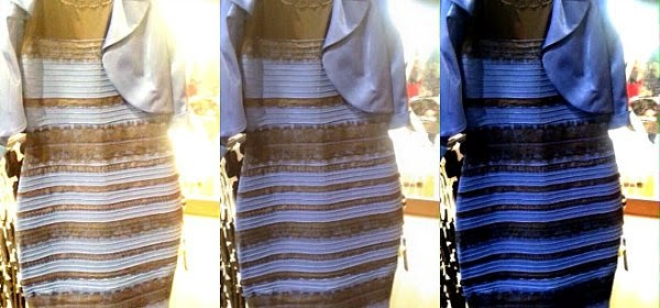 What color do you see - white and gold or blue and black via geniushowto.blogspot.com the dress color debate - finding answer with Science