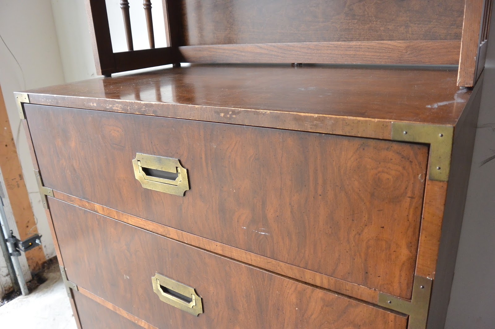 Campaign Dresser And Hutch Rehab Stripes And Whimsy