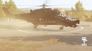 Arma3用Mi-24M Mk III Super Hind攻撃ヘリコプタ