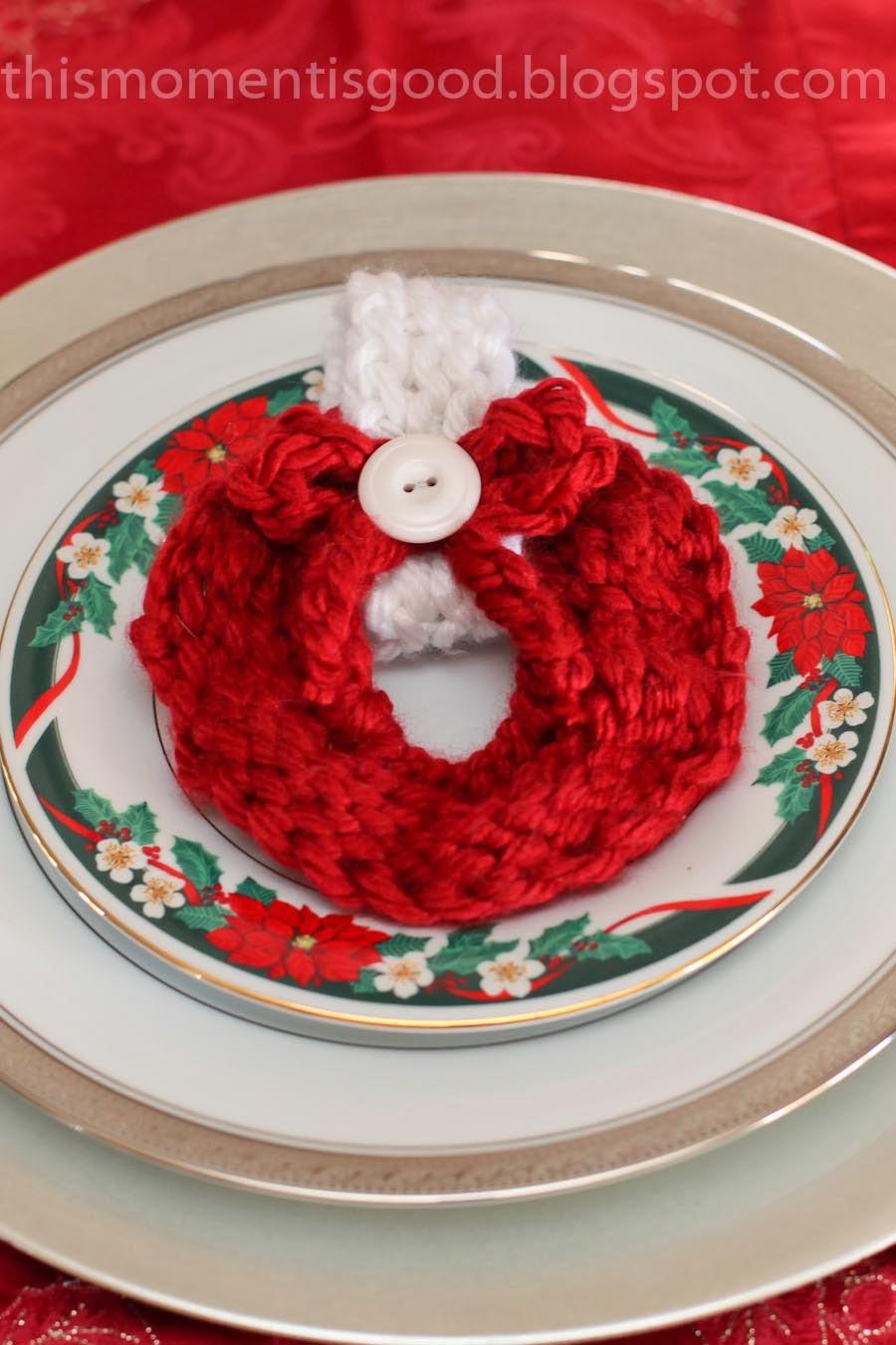 Loom Knit Christmas Ornaments Part - 29: LOOM KNIT CHRISTMAS WREATH