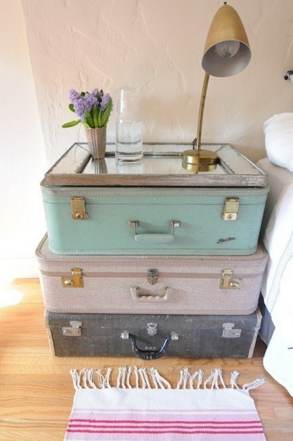 Great And Creative Ideas For Decorating With Old Suitcases