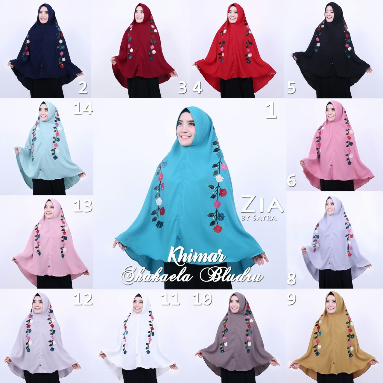 Vidia Oshop Hijab Corner Khimar Shakaela Bludru By Zia Original Sayra Segitiga Buble Georgete