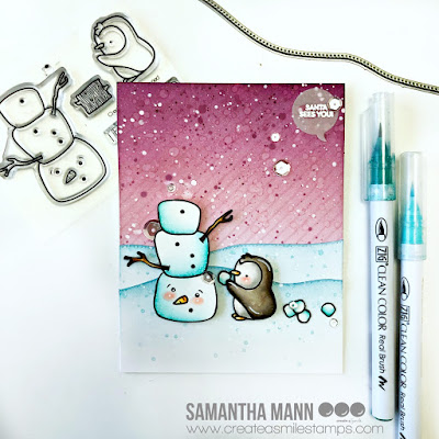 Santa Sees You! Card by Samantha Mann for Create a Smile Stamps, Christmas, Cards, naughty list, distress inks, ink blending #christmas #penguin #naughtylist #cards #createasmile