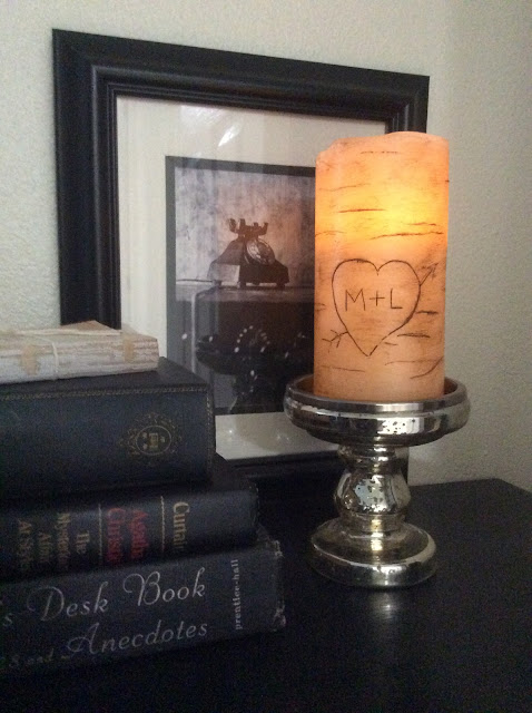 How to Make Personalized Faux Birch Candles from Fresh Vintage by Lisa S