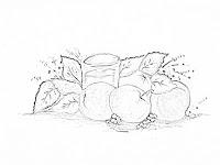risco copo de suco e laranjas