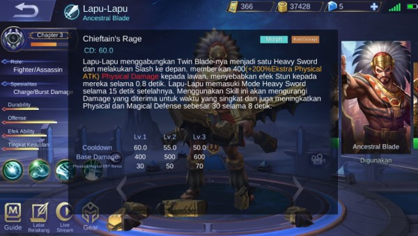 Skill 3 Lapu-Lapu Si Hero Fighter Mobile Legend