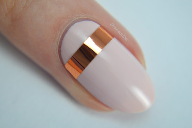 wedding nail art ideas metallic stripes simple chrome