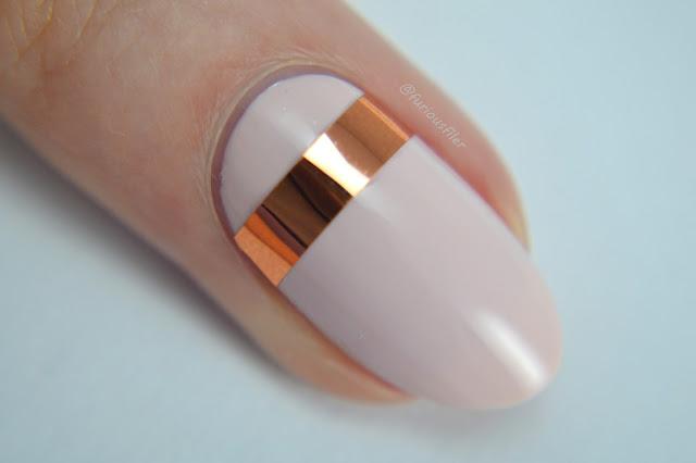 wedding nail art ideas metallic stripes simple chrome