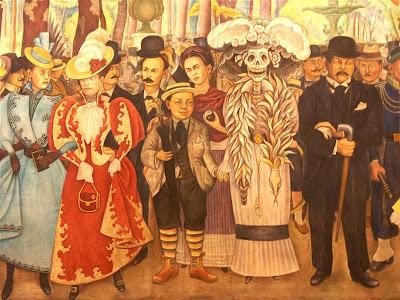 Sueño de una tarde dominical του Diego Rivera (λεπτομέρεια)