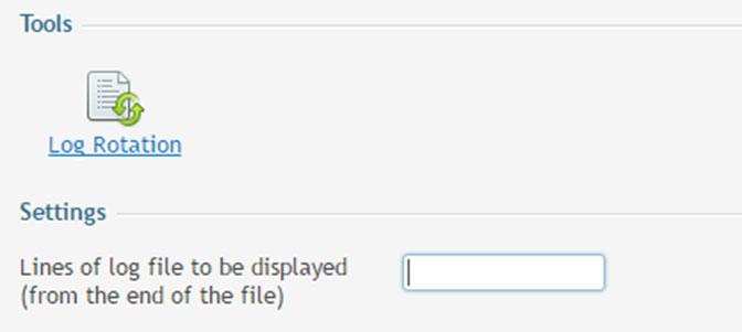 Menghapus file log otomatis dengan Log Rotation