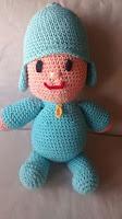 muñeco amigurumi personaje pocoyo