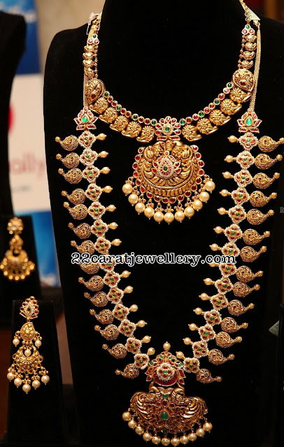 Mango Haram and Necklace in Antique Finish