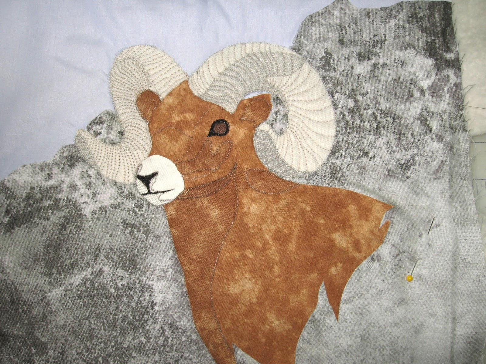 Quilted Art from Mary Katherine Hopkins: Big Horn Sheep ... : big horn quilts - Adamdwight.com