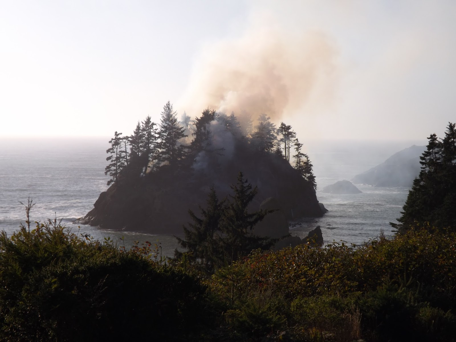 Tom Sebourn Blog: Pewetole Island Has Been On Fire For Days