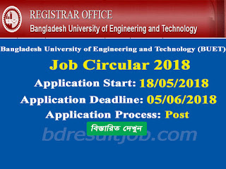 BUET Professor Recruitment Circular 2018