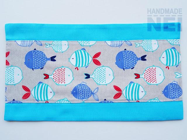 """Handmade Nel: Калъф за книга от плат """"Рибки"""""""