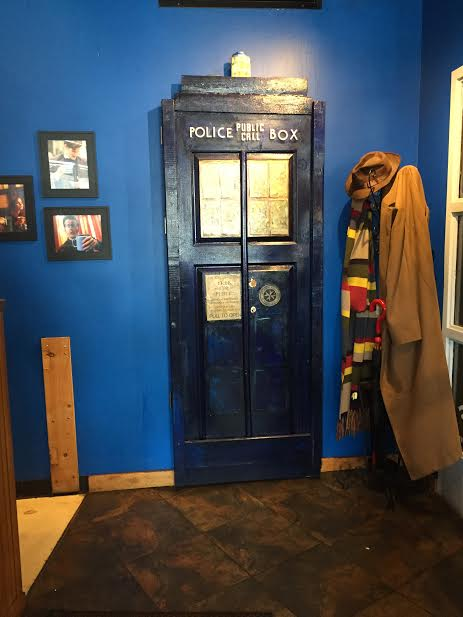 Tardis at Blue Box Cafe