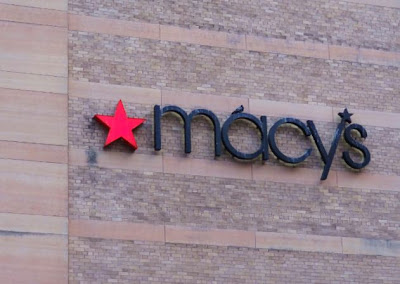 macy's signage on Downtown Houston store